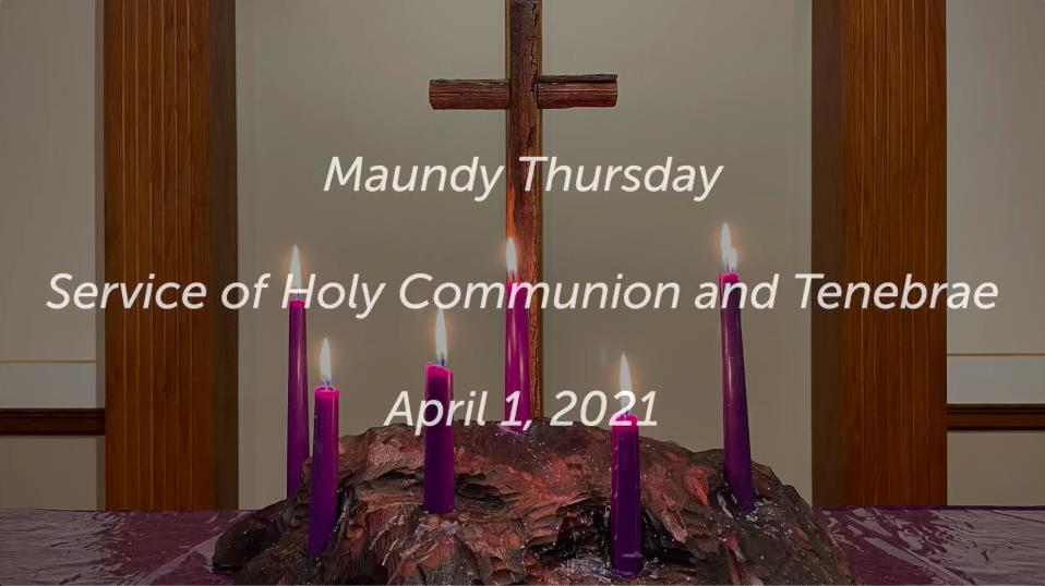 Maundy Thursday April 1